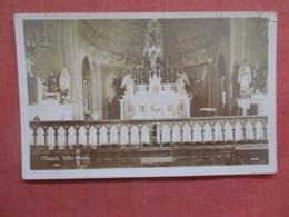 RPPC  Chapel Villa Maria  To ID Top Corner Tear Ref 3730 - Postcards