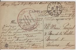 SAVOIE CP 1918 AIX LES BAINS HOPITAL SSBM N°15 - Marcophilie (Lettres)