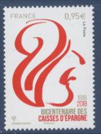 N° 5207 Bicentenaire Des Caisses D'Epargne Faciale 0,95 € - Nuevos
