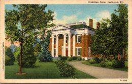 Kentucky Lexington Greentree Farm 1942 Curteich - Lexington