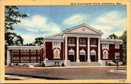 Mississippi Hattiesburg Main Street Baptist Church 1943 Curteich - Hattiesburg