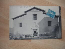 Lot 2 Carte Lantosque Vue Generale Entree Eglise - Francia