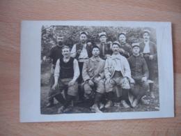 Carte Photo Guerre 14.128 Souvenir De La Meuse Les Guerriers Des Alpes Maritimes - Guerre 1914-18