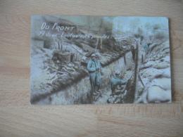 Carte Patriotique Au Front Avec Toutes Mes Pensees Guerre 14.18 - Guerra 1914-18