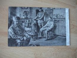 Guerre 14.18 Officier Indien Et Paysan Nord Illustrateur Sarrut - Guerre 1914-18