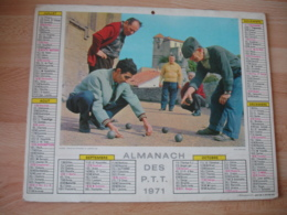 Petanque Cannescalendrier Almanach Ptt P T T 1959 Oberthur - Grand Format : 1941-60