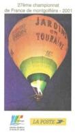 INDRE ET LOIRE, CHAMPIONNAT DE FRANCE DE MONTGOLFIERE 2001, JARDIN EN TOURAINE, CACHETS DESCARTES INDRE ET LOIRE 2003 - Montgolfières