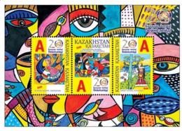 Kazakhstan 2019.Souvenir Sheet.Children Paint The World.NEW!!! - Childhood & Youth