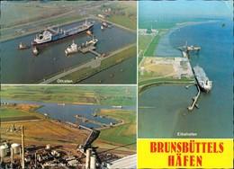 Brunsbüttel Brunsbüttelkoog Luftbilder Häfen Ölhafen Elbehafen Landeshafen 1982 - Deutschland