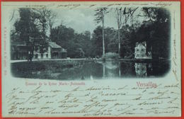 78-VERSAILLES- Chateau Hameau De La Reine Marie-Antoinette-cpa Précurseur Bleue-voyagée 1901 Vers TESCHEN -SILESIE - Versailles (Castello)