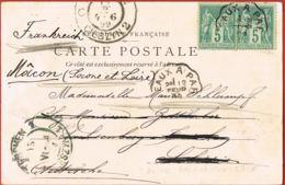 78-VERSAILLES- Chateau- Hameau De La Reine -La Ferme-cpa Précurseur -voyagée 1899 Vers TESCHEN-CIESZYN -SILESIE - Versailles (Castello)