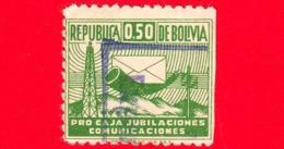 BOLIVIA - Usato - 1953 - Marche Da Bollo - Comunicazioni - Trasporti - 0.50 - Bolivia