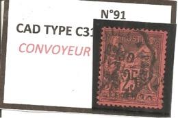 Y&T N°91   CLASSIQUE - 1876-1898 Sage (Type II)