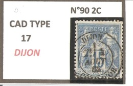 Y&T N°90   CLASSIQUE - 1876-1898 Sage (Type II)