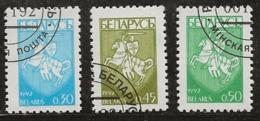 Biélorussie 1992 N°Y.T. : 13 à 15 Obl. - Bielorussia
