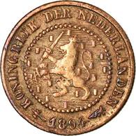 Monnaie, Pays-Bas, Wilhelmina I, 1/2 Cent, 1894, TTB, Bronze, KM:109.2 - 0.5 Cent