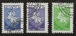 Biélorussie 1992 N°Y.T. : 16 à 18 Obl. - Bielorussia