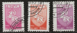 Biélorussie 1992 N°Y.T. : 33 à 35 Obl. - Bielorussia