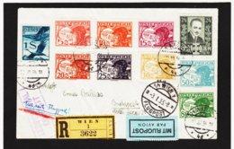 BOX783 ÖSTERREICH 1925/35 RECO - FLUGPOST Von WIEN Nach BUDAPEST SIEHE ABBILDUNG - Briefe U. Dokumente