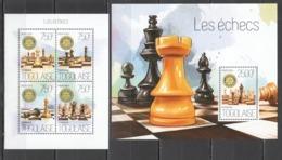 TG774 2013 TOGO TOGOLAISE SPORT GAMES CHESS LES ECHECS KB+BL MNH - Chess