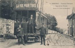 I178 - 38 - GRENOBLE - Isère - Tramway électrique - Ligne De La Tronche - Arrêt à La Croix De Montfleury - Grenoble