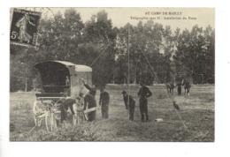 10 - AU CAMP DE MAILLY . TÉLÉGRAPHIE SANS FIL . INSTALATION DU POSTE . REPRODUCTION - Réf. N°23335 - - Mailly-le-Camp