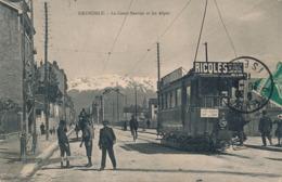 I178 - 38 - GRENOBLE - Isère - Le Cours Bérriat Et Les Alpes - Tramway - Grenoble