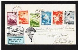 BOX785 ÖSTERREICH 1935 FLUGPOST-BRIEF ECHT Gelaufen 1. MILITÄRISCHER GROSSFLUGTAG ABWURF LEOBEN 21.9.37 SIEHE ABBILDUNG - Briefe U. Dokumente