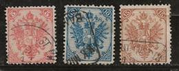 Bosnie-Herzégovine 1879-1894 N°Y.T. : 4,5 Et 6 (dent. 12 3/4 ) Obl. - Bosnien-Herzegowina