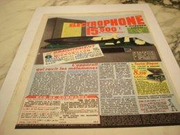 ANCIENNE PUBLICITE ELECTROPHONE VALISE 1957 - Muziek & Instrumenten