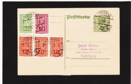 BOX787 ÖSTERREICH 1922 POSTKARTE Mit 3x Michl 363 Von LEOGANG Nach SALZBURG SIEHE ABBILDUNG - Briefe U. Dokumente