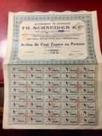 AUTOMOBILES  TH.  SCHNEIDER  ---------Action    De  100 Fers - Automobilismo