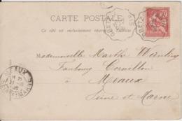 SEINE ET MARNE CP 1902 GRETZ A PARIS CONVOYEUR DE LIGNE - Marcophilie (Lettres)