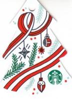 Starbucks 2018 China Merry Christmas Die Cut Christmas Tree Gift Card - Cina