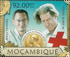 Mozambique Shinya Yamanaka John Gurdon Nobel Prize Medicine 1v Stamp Michel:6411 - Famous People