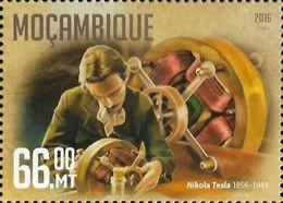 Mozambique Nikola Tesla Inventor Serbia 1v Stamp Michel:8494 - Famous People