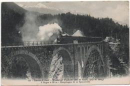 Davos Filisur Wiesner Viadukt Bahn 1909  -----  219 - GR Graubünden