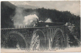 Davos Filisur Wiesner Viadukt Bahn 1909  -----  219 - GR Grisons