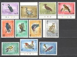 TT294 1965 YEMEN ARAB REPUBLIC FAUNA BIRDS #409-19A !!! MICHEL 35 EURO !!! 1SET MNH - Birds