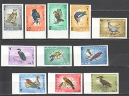 TT295 !!! IMPERFORATE 1965 YEMEN ARAB REPUBLIC FAUNA BIRDS #409-19B !!! MICHEL 60 EURO !!! 1SET MNH - Birds