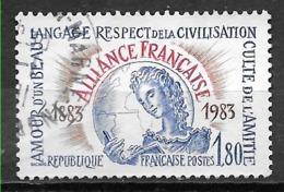 FRANCE 2257 Centenaire De L'Alliance Française   . - Oblitérés