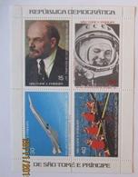 Sao Tome E Principe, Concorde Weltraum Lenin  Rudern, Ungebrauchter Block (1224) - São Tomé Und Príncipe