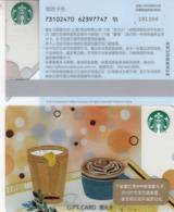 2019 China Starbucks Coffee Time Used Gift Card - Cina