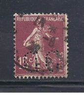Y & T  N°  189  Perforé   C. C  50  Ind  4 - France