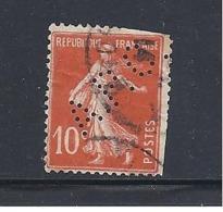 Y & T  N° 138  Perforé   A. P. C.  166   Ind  8 - France