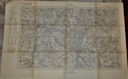 Rare Carte état Major Allemande 1:80 000 Bourges - 1939-45