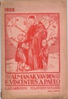 Almanak Van Den H. Vincentius - Lazaristen Luik & Leuven - 1933 - Livres, BD, Revues