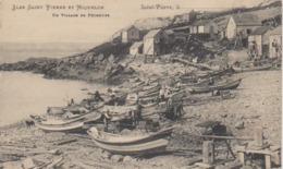 Cpa Miquelon Terre Neuve  Granville   Anse A Savoyard Village Pêcheurs  Morue Doris Cabestan Editeur  Brehier 47 - Saint-Pierre-et-Miquelon