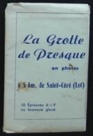 Carnet De 10 Mini-photos De La Grotte De Presque à Saint-Céré. (bromure Glacé) - Saint-Céré