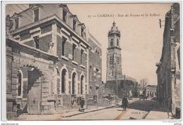 CAMBRAI RUE DE NOYON ET LE BEFFROI TBE - Cambrai